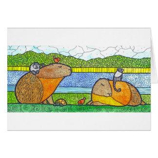 Cartão de cumprimentos do Capybara