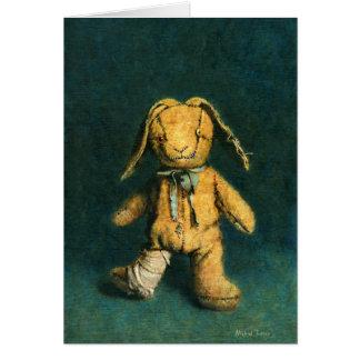 Cartão de cumprimentos do coelho do zombi