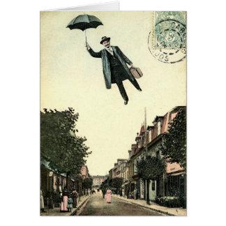 Cartão de cumprimentos do estilo do vintage do
