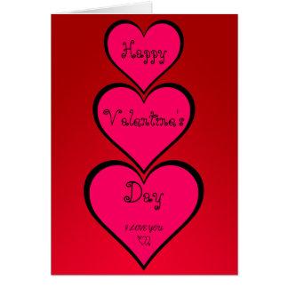Cartão de cumprimentos do feliz dia dos namorados