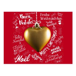 Cartão de cumprimentos do Feliz Natal do mundo