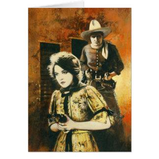 Cartão de cumprimentos do filme ocidental do