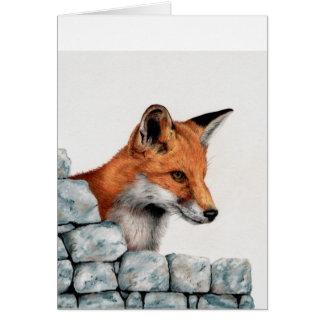 Cartão de cumprimentos do Fox vermelho