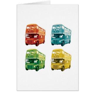 Cartão de cumprimentos do ônibus de Londres