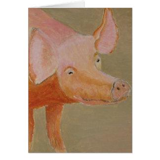 Cartão de cumprimentos do porco