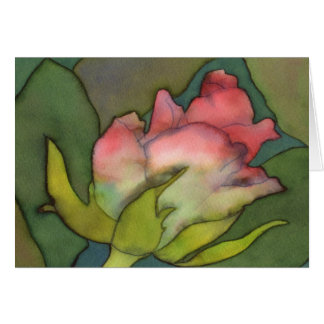 Cartão de cumprimentos do rosa do rosa