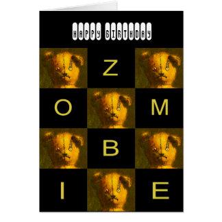 Cartão de cumprimentos do ursinho do zombi