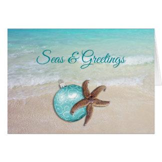 Cartão de cumprimentos dos mares n da estrela do