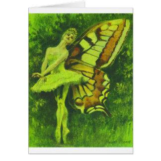 Cartão de cumprimentos feericamente do dançarino