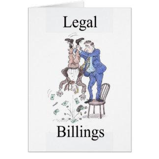 Cartão de cumprimentos legal dos faturamentos