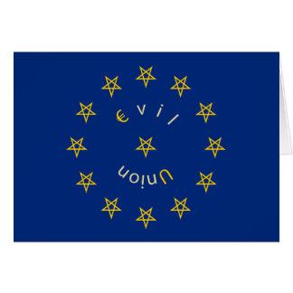 Cartão de cumprimentos mau S2 da união