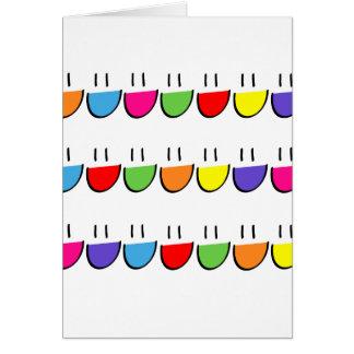 Cartão de cumprimentos Multicoloured do smiley