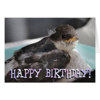 Cartão de cumprimentos personalizado do pássaro de