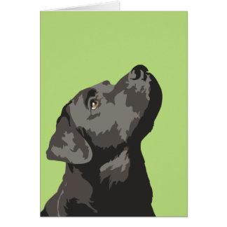 Cartão de cumprimentos preto do pop art de