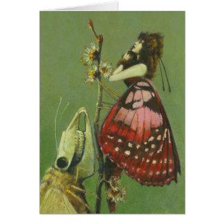 Cartão de cumprimentos surreal gótico das traças