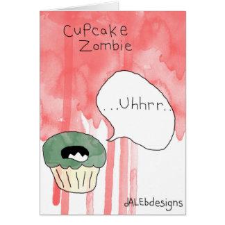 Cartão de cumprimentos temático do cupcake -
