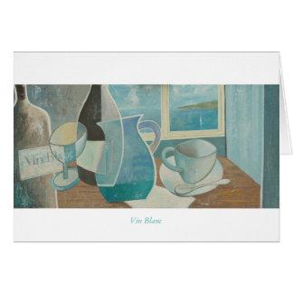 Cartão de cumprimentos: Vin Blanc. Séries de St