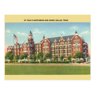 Cartão de Dallas do Sanitarium de St Paul do