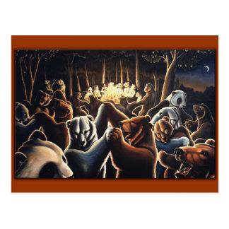Cartão de dança da celebração do cartão dos ursos