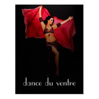 cartão de danse du ventre cartao postal