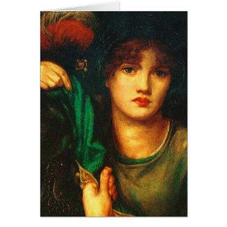 Cartão de Dante Gabriel Rossetti Greensleeves