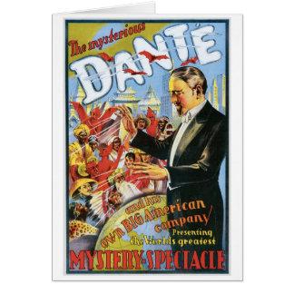 Cartão ~ de Dante o ato mágico do vintage misterioso do