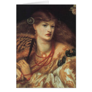 Cartão de Dante Rossetti Monna Vanna