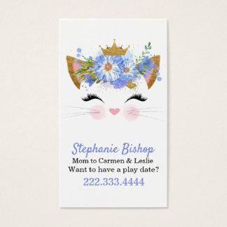 Cartão de data da princesa Gatinho Mamãe Jogo