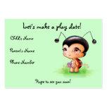 Cartão de data pequeno do jogo da menina do joanin cartao de visita