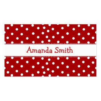 Cartão de data vermelho & branco do jogo das cartão de visita