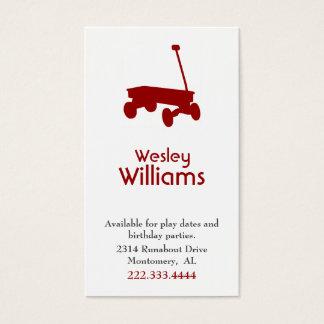 Cartão de data vermelho do jogo de crianças do