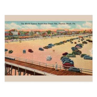Cartão de Daytona Beach do cais do oceano do
