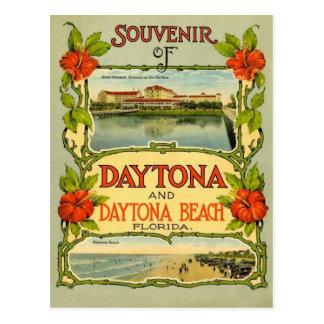 Cartão de Daytona Beach do vintage