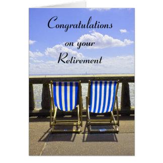 Cartão de Deckchair da aposentadoria