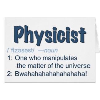 cartão de definição do físico - azul & branco