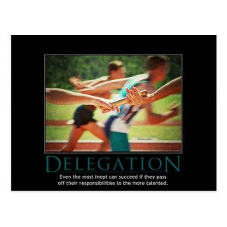 Cartão de Demotivational da delegação