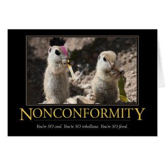 Cartão de Demotivational: Nonconformity