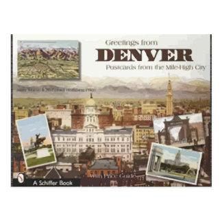 Cartão de Denver da cidade Milha-Alta, vintage