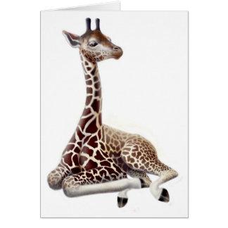 Cartão de descanso do girafa