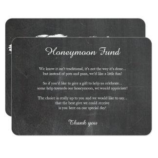 Cartão de desejo bom da lua de mel do mapa do