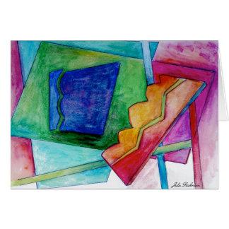 Cartão de desenho abstrato
