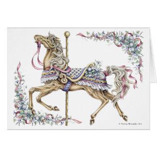 Cartão de desenho da caneta e da tinta do cavalo