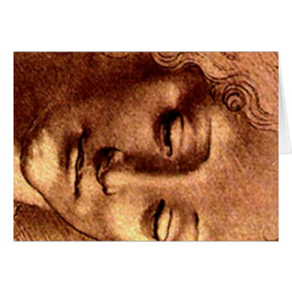 Cartão de desenho de Davinci