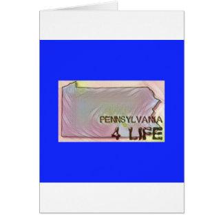 """Cartão De """"design do orgulho do mapa do estado da vida"""