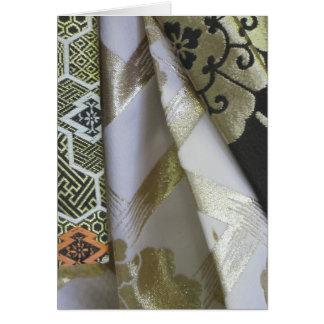 Cartão de detalhe do quimono