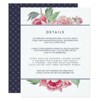 Cartão de detalhes antigo do convidado do convite 10.79 x 13.97cm