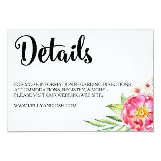 Cartão de detalhes chique floral