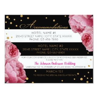 Cartão de detalhes cor-de-rosa do brilho do ouro