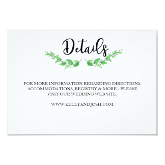 Cartão de detalhes das hortaliças