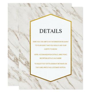 Cartão de detalhes | de mármore moderno do